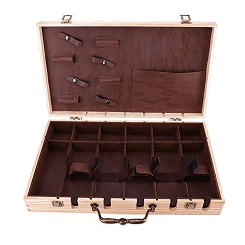 Minkissy Professional Barber Case Stylist Tool Box Organizer Travel Case Barber Tool Carrying Box