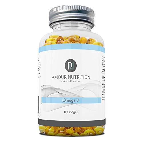 Omega 3 Fish Oil, 2000mg Per Serving, EPA & DHA Softgel Capsules, UK Made, Support Eye, Brain and Heart Health
