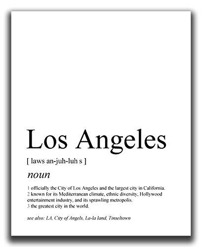 Los Angeles Wall Decor - 8x10
