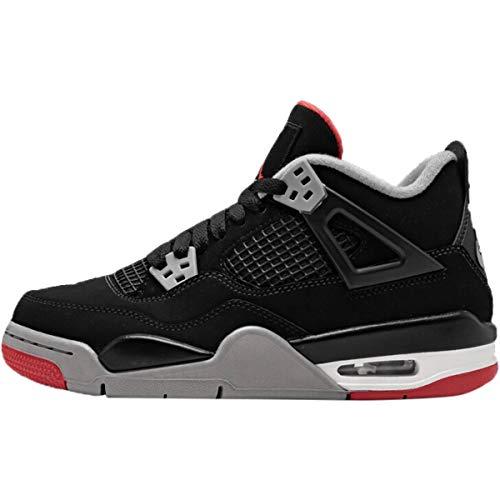 Nike Air Jordan Retro 4 Bred Gade School Lifestyle Shoe (3.5)