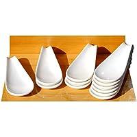 Canape cerámica pantalla cuchara blanco 4,7x 12cm x 12