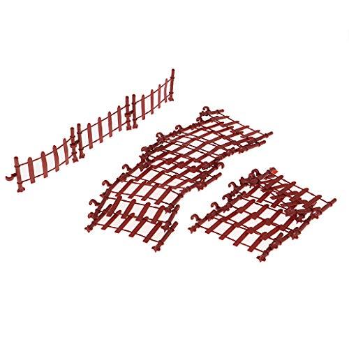 chiwanji Kit de Modelo de Valla de 20 Piezas para Adornos de Paisajes de Paisajes en Miniatura de Mesa de Arena