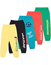KYDA KIDS Cotton Track Pant for Boys & Girls - Bright Colors - Pack of 5