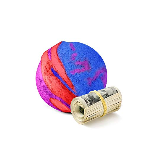 Cash Money Bath Bombs | Jumbo Size, 7.5oz | $2-$2500 Inside | Guaranteed Rare $2 Bill | Large Mystery Surprise Gift | (Rainbow Magic)