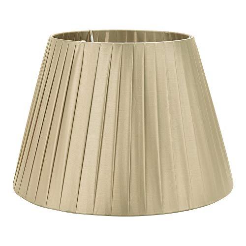 DULEE 15,7 Zoll E27 Schraube Tisch Lampenschirme Für Tischlampe Stehlampe, (Top) 25 cm x (Höhe) 28 cm x (unten) 40 cm, Champagner