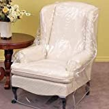 Clear Vinyl Furniture Protector - Chair/Recliner Cover - 36' W x 40' D x 42' H Rear, 25' H Front