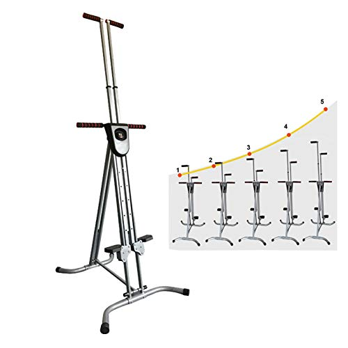 Fencia Vertical Climber Exercise Machine Heavy Duty,Folding Mountain Climber Stair Stepper Exercise Equipment Cardio for Maximum Calorie Burn Workout Fitness Gym Conquer【US Warehouse 5-7 Day Delivery】