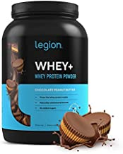 Legion Whey+ Whey Isolate Protein Powder from Grass Fed Cows - Low Carb, Low Calorie, Non-GMO, Lactose Free, Gluten Free, Sugar Free. Great for Weight Loss (30 Serving, Chocolate Peanut Butter)