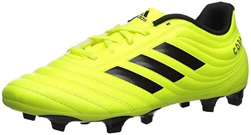 adidas Men's Copa 19.4 Firm Ground Soccer Shoe, Solar Yellow/Black/Solar Yellow, 10.5...