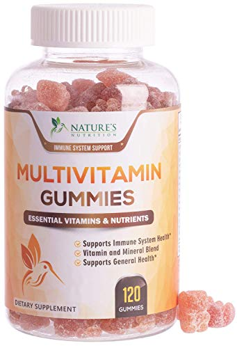 Multivitamin Gummies Extra Strength Adult Vitamin Gummy - Natural Complete Daily Supplement - Vegetarian Multi with Vitamins A, C, E, B6, B12 for Men and Women, Non-GMO - 120 Gummies