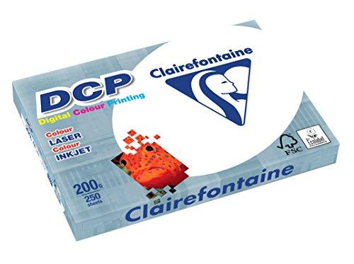 Clairefontaine 1807C Kopierpapier, A4, 250 Blatt, 200 g/m² Hochweiß
