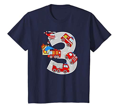 Niños Regalo Bomberos Niño 3 Años Camiseta