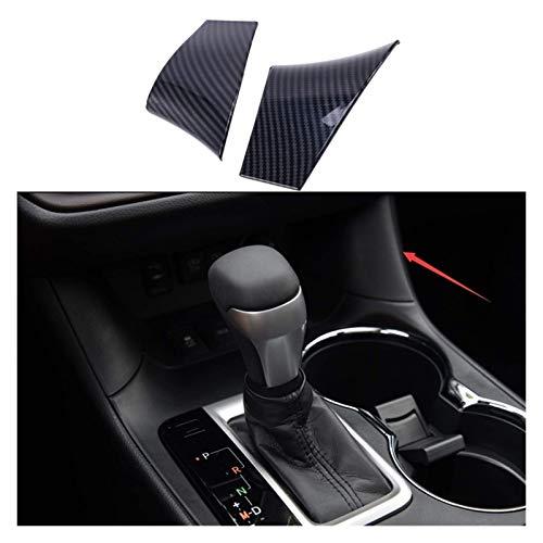 MZWNQ Partes de automóvil Perilla de cambio de coche, cubierta de apoyabrazos para taza de agua, parche de apoyabrazos para Toyota Highlander Kruger 2014-2019 (nombre del color: negro) (tamaño: negro)