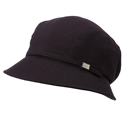 Comhats Damen Faltbarer Bucket Sonnenhut Sommerhut mit Kinnriemen UPF 50+ schwarz