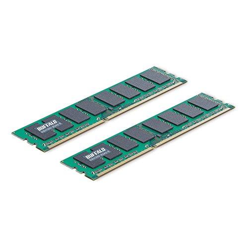 『BUFFALO デスクトップ用増設メモリ PC3-10600(DDR3-1333) 2GB 2枚組 D3U1333-2GX2/E』のトップ画像