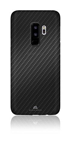 Black Rock - Ultra Thin Iced Hülle Hülle für Samsung Galaxy S9+   Karbon, dünn, schlank, Fiber Cover (Flex Carbon Schwarz)