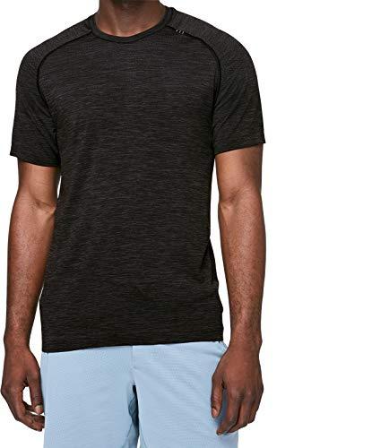 Lululemon Mens Metal Vent Tech Short Sleeve Shirt (Deep Coal Black, M)