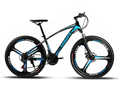 OD-B Bicicleta De Montaña De 26 Pulgadas Bicicleta con Marco De Acero De Alto Carbono Frenos De Doble Disco Bicicleta Rueda De Radios Y Rueda De Cuchillo