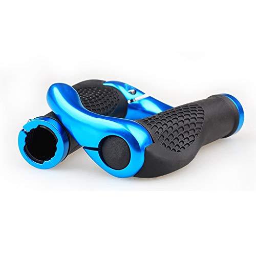 Pvnoocy, 1 paio di manopole per manubrio della bicicletta, ergonomiche, con chiusura a blocco, estremità in gomma, antiscivolo, per BMX e MTB, Scarpette a strappo Voltaic 3 Velcro Fade - Bambini