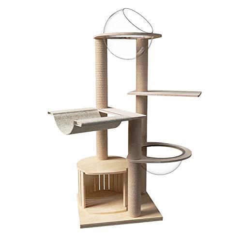 LSF Kratzbäume katzenbaum groB Cat Klettergerüst Massivholz-Raumkapsel Katzentoilette Kratzbaum-Katzen-Rahmen Kratzbrett Katze Spielzeug Katze Springen Plattform Kratz (Size : A)
