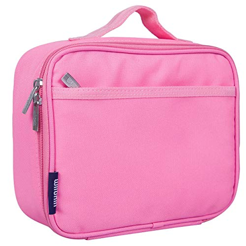 Wildkin Kids Insulated Lunch Box Bag for Men and Women, Ideal Size for Packing Hot or Cold Snacks for Work & Travel, Measures 9.75 x 7 x 3.25 Inches, Mom's Choice Award Winner, BPA-free(Flamingo Pink)
