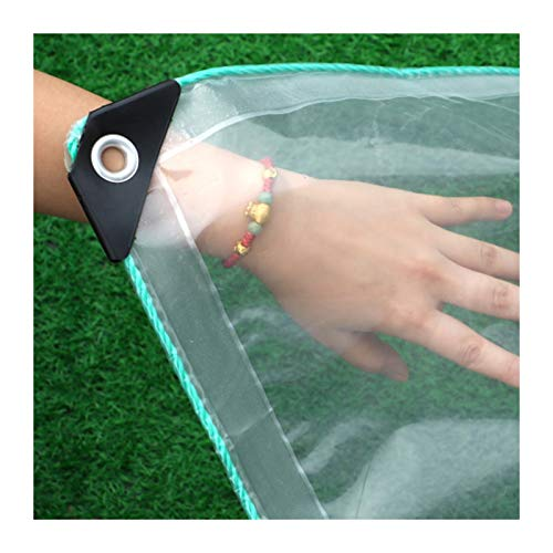 JINGMAI Lona Impermeable, 0.5mm Grueso Lonas Transparente, 500 Kg/㎡ Lona Funda, Pesada Resistente para Intemperie Jardín Cubierta Piscina Personalizable (Color : Clear, Size : 1x2.5m)
