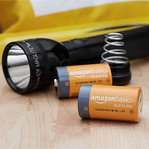 AmazonBasics D Cell 1.5 Volt Everyday Alkaline Battery - 12-Pack