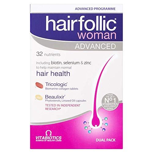 Vitabiotics Hairfollic Her Advanced Capsules, 60-Count (Packaging may vary)