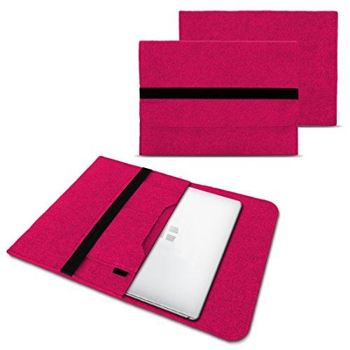 NAUC Laptoptasche Sleeve Schutztasche Hülle für Trekstor Surfbook W1 W2 Netbook Ultrabook 14,1 Zoll Laptop Filz Hülle, Farben:Pink