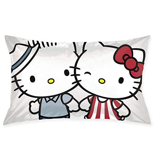 Copricuscino Hello Kitty, federa per cuscino per auto, divano, letto, decorazione per la casa, 50,8 x 76,2 cm