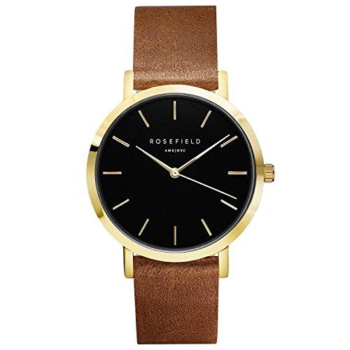Rosefield The Gramercy Black Brown Gold horloge GBBRG-G37