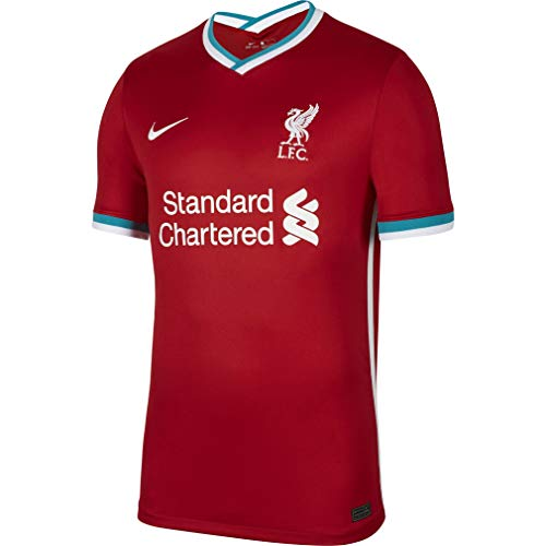 Nike Men's Soccer Liverpool Home Jersey (Medium) Red