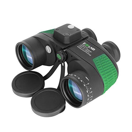 ESSLNB Prismáticos Marinos 7X50 BAK4 Prisma Prismáticos Militares con Iluminado Telémetro Brújula IPX7 100{55463131825a48df7b818dd7a6215580ae5fedaa34b56c8b6a487fa0ef602634} Impermeable por Caza Observación de Aves Barco para Adultos Niños