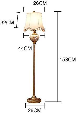 Floor lamp.. ASL Keramik Malerei Stehlampe, Schlafzimmer Wohnzimmer Study Vertikale Stehleuchte Creative E27 Lampe 44 * 158CM Kredit (gr��e : 44 * 158CM)