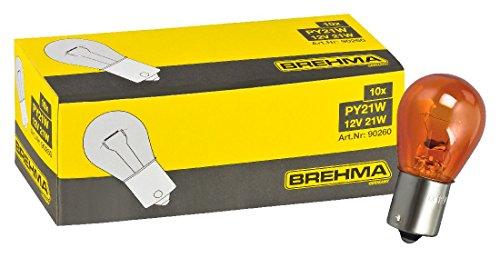 Preisvergleich Produktbild BREHMA 10x PY21W Blinkerlampe Blinkerbirne 12V orange gelbe Kugel Lampe BAU15s