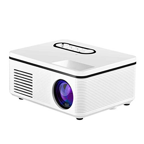 Support HD Mini Micro PROYECTOR HD 1080 Proyector portátil Full HD 1080P Compatible con USB HD SD AV VGA para el Cine en casa with Projection Function (Color : White, Size : 137 * 126 * 57MM)