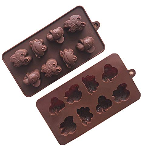 VolksRose 8 Holes Butterfly Bee Shape Silicone Mold Baking Mould Bakeware Pan for Making Cake Candy Chocolate Cupcake Pudding Jelly Handmade Soap DIY Tools