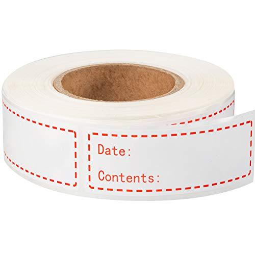 300 Stücke Abnehmbare Gefrierschrank Etiketten 1 x 3 Zoll Lebensmittel Lagerung Aufkleber Kühlschrank Gefrierschrank Papier Etiketten (Rot)
