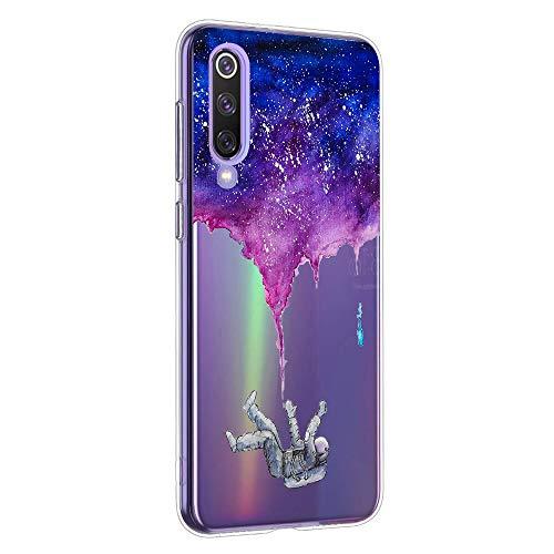 Suhctup Case Compatible con XiaomiMixAlpha Funda Transparente Suave Silicona TPU Bumper Cárcasa Dibujos Animales Diseño Ultra Delgada Antigolpes de Protector Piel Cover,Ahogo