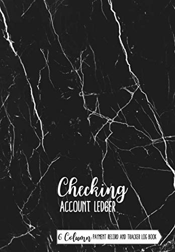 Checking Account Ledger book: Simple Accounting Ledger with 6 Column Payment Record and Tracker Log Book | Account Transaction Register | Checkbook ... Balance Register  | Marble texture Design