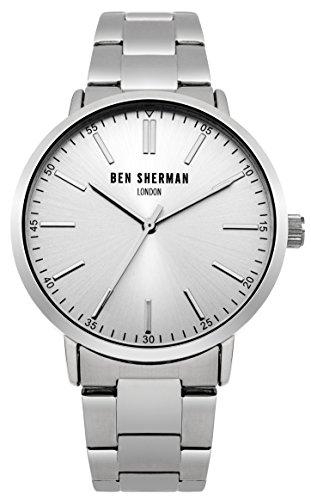 Ben Sherman Hombres Reloj De Cuarzo con Esfera Analógica y Plata Pulsera de Acero Inoxidable wb061sm
