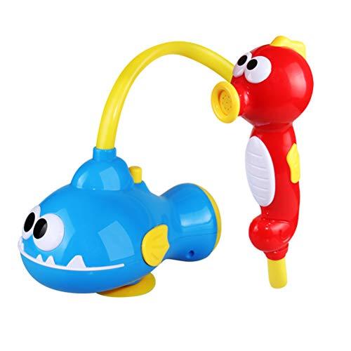 Baby Bad Spielzeug, Elektrische Seepferdchen Wal Wasser Spray Dusche Spielzeug Badewanne Spray Wasserpumpe Werkzeug Lernspielzeug für Kinder