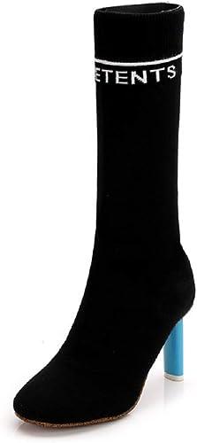 Gaslinyuan Stiefel elásticas schuhe de Moda para damenes (Farbe   schwarz, tamaño   EU 37)