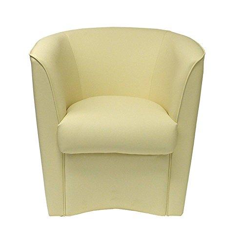 Totò Piccinni Poltrona a POZZETTO in Ecopelle Design | Alta QUALITA' | Made in Italy (Beige)