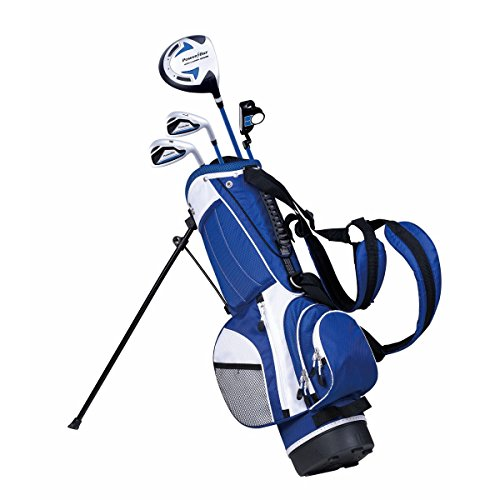 PowerBilt Junior Kids Boy's Ages 5-8 Golf Club Set, Right Hand, Blue