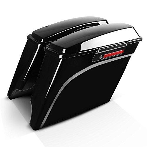 Maletas Laterales Extendidass para Harley Davidson Road Glide Custom (FLTRX) 10-13, Black Latch