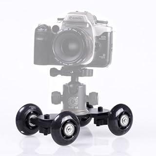 SHOPEE Table Dolly Mini Car Desktop Rail Track Slider for DSLR Camera (Black)