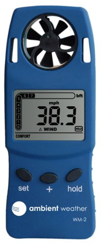 Ambient Weather WM-2 Handheld Weather Meter w/Windspeed, Temperature, Wind Chill