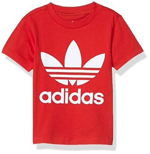 adidas Originals - Camiseta de trébol para niño - Rojo - 3 Meses