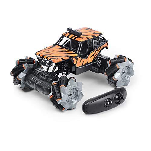 LTLGHY Brinquedo De Controlo Remoto para Carro, 2,4 GHz RC Stunt Car, 4WD Stunt RC Carro Acrobacia Rotação Rotação De 360 ° Carro Rádio Controlo para Presentes Natal Aniversários,Naranja